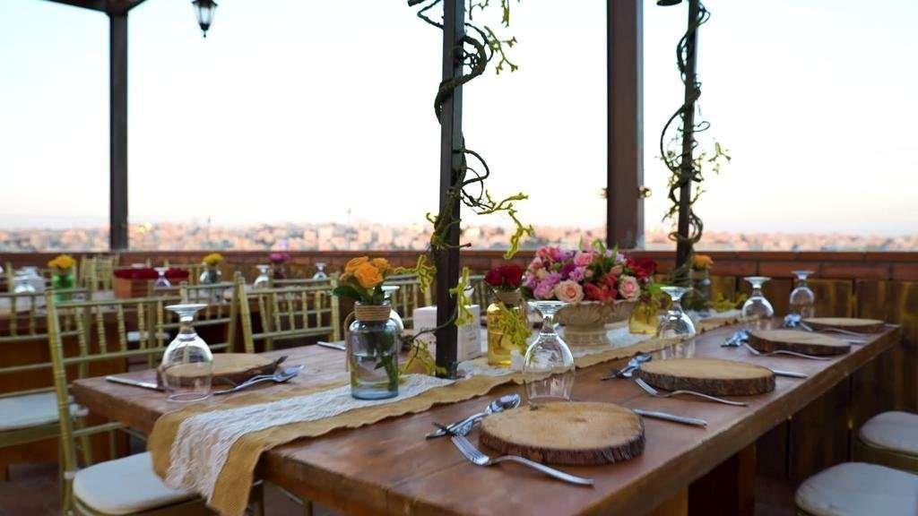 Hotel Gerasa dakterras restaurant - Amman