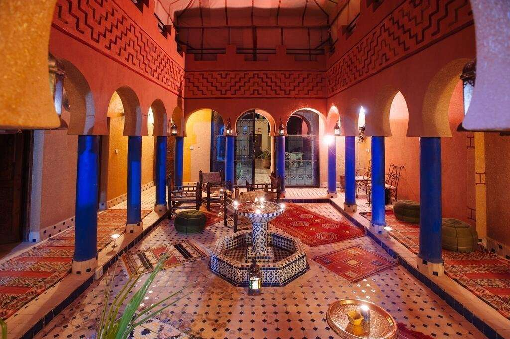 Kasbah Rayane patio - Ait Benhaddou