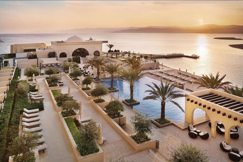 Hotel Al Manara zwembad - Aqaba