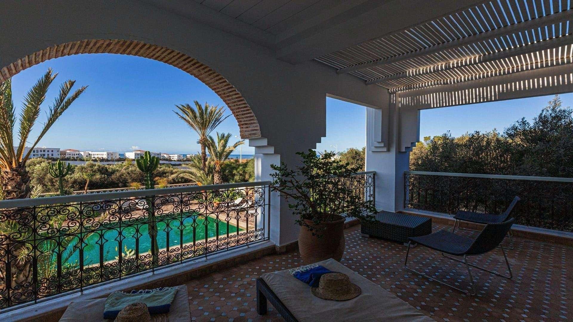 Riad Villa Blanche balkon luxe kamer - Agadir