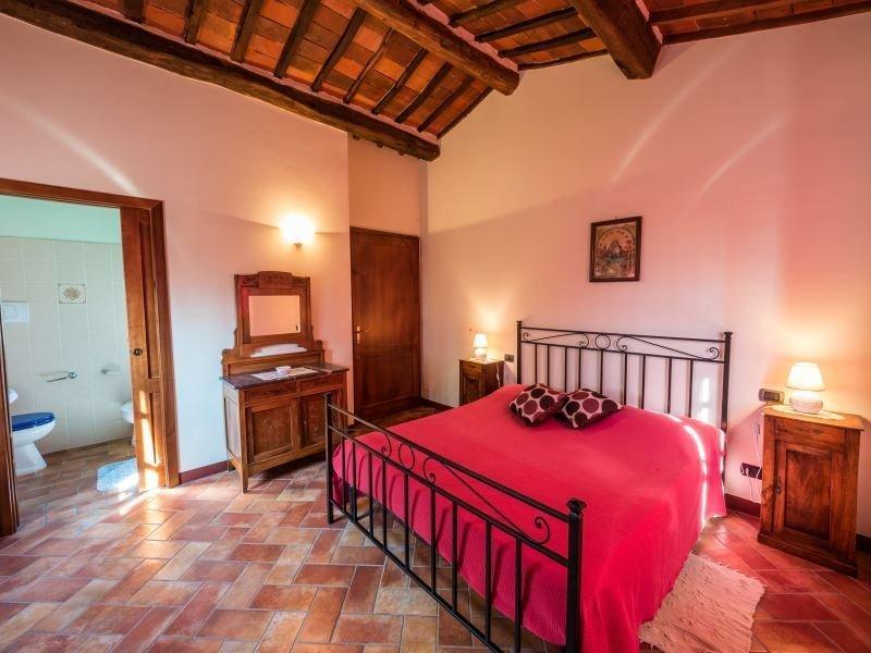 agriturismo la crosticcia -slaapkamer poggetto en suite