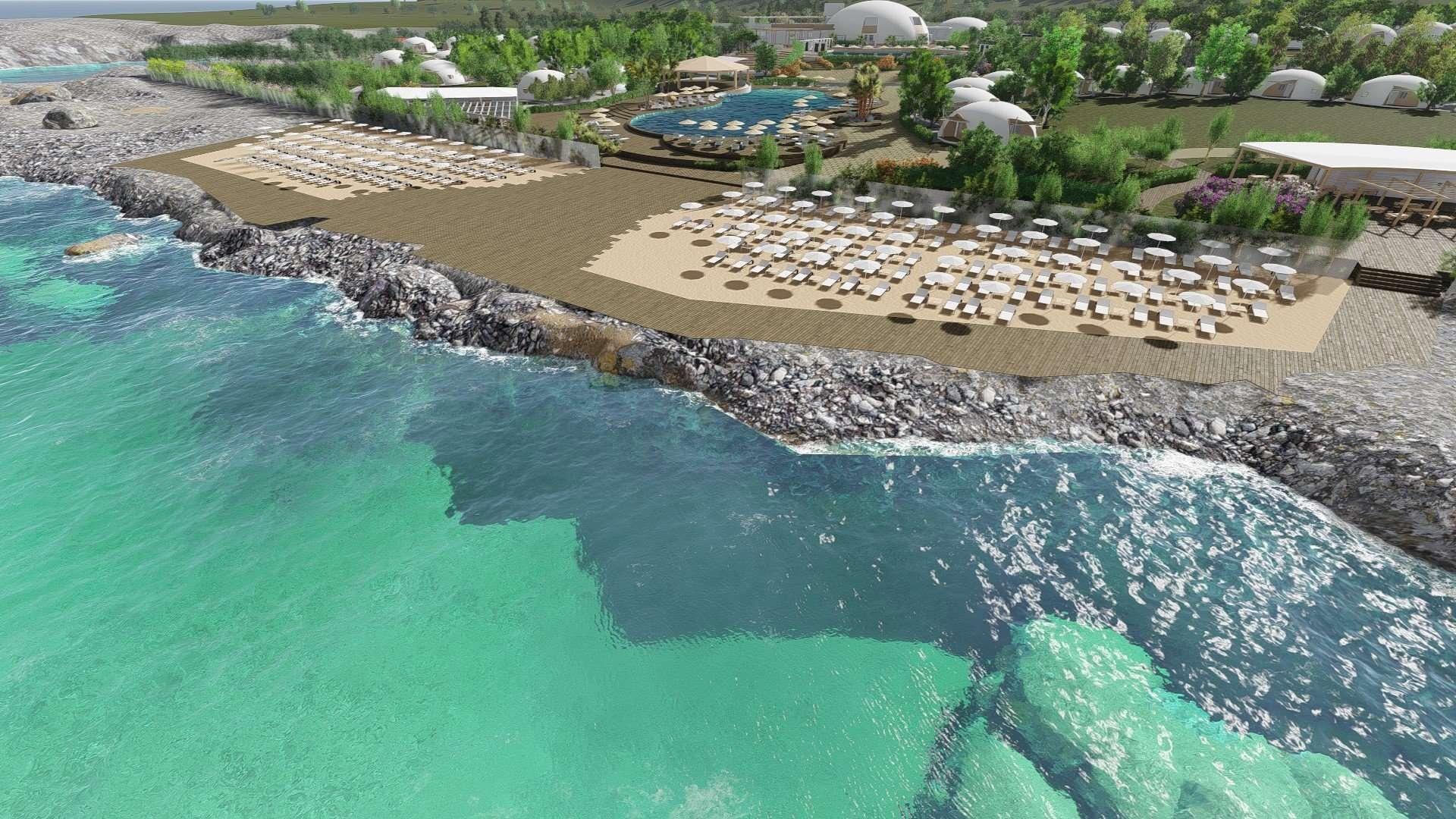 torre cintola natural sea resort - puglia - italie -overzicht vanaf zee