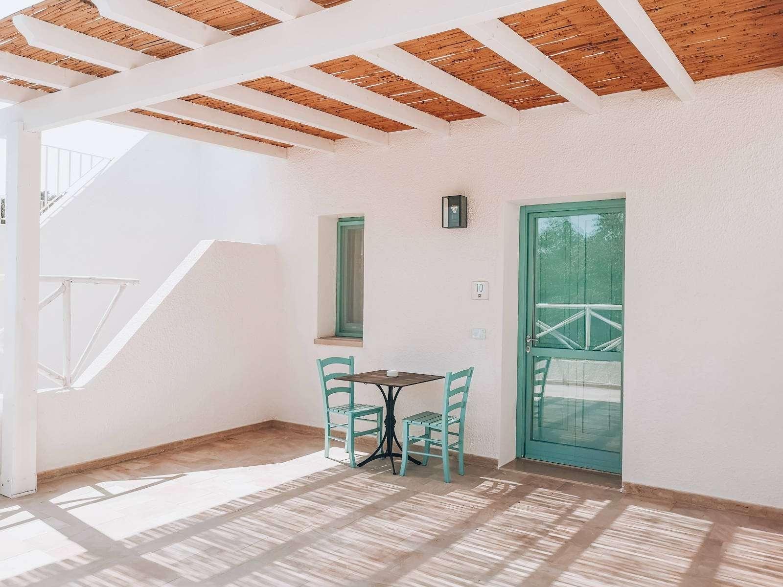 marenea suite hotel - puglia - italie - overdekt terras