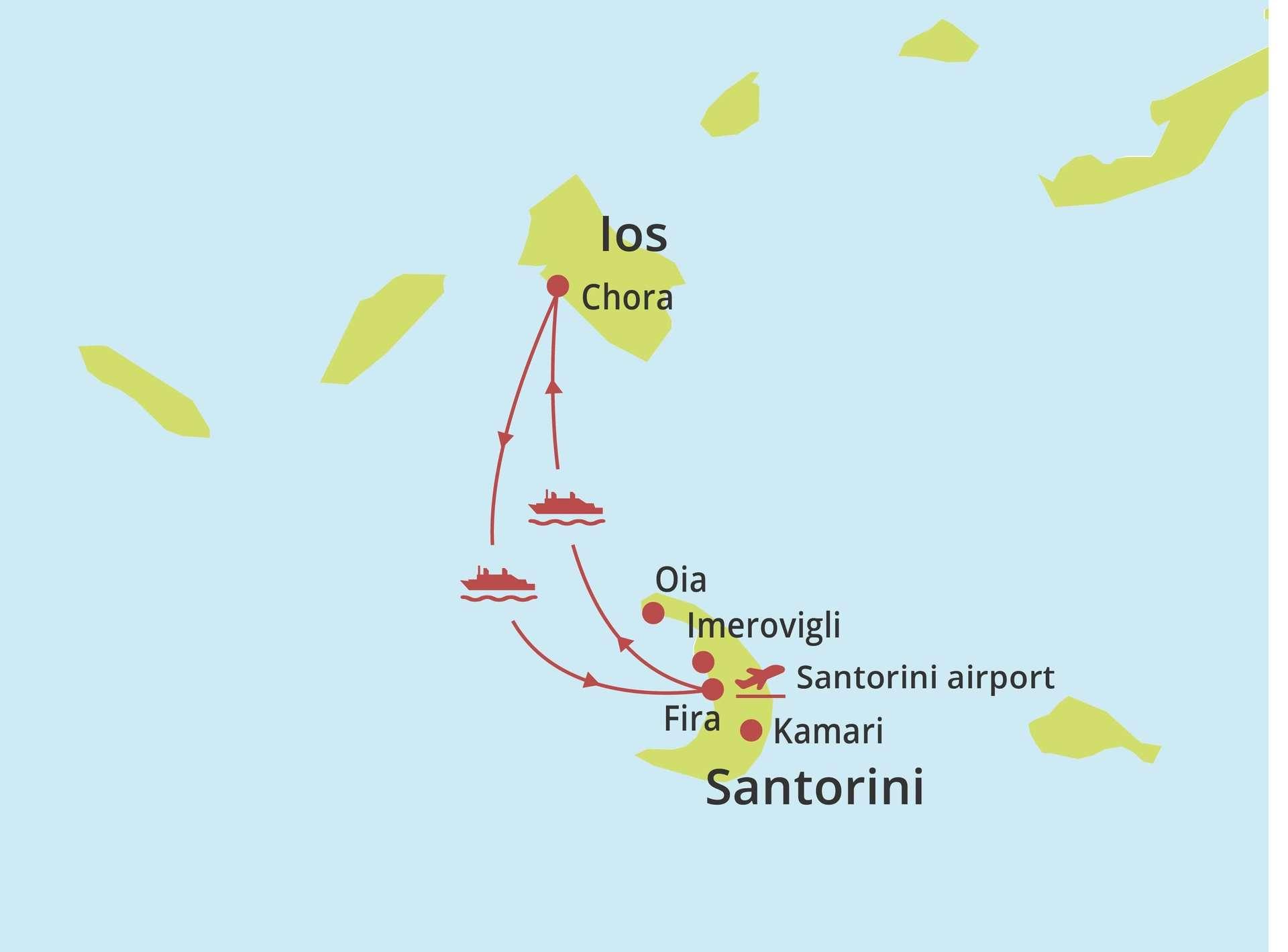 Eilandhoppen Ios - Santorini
