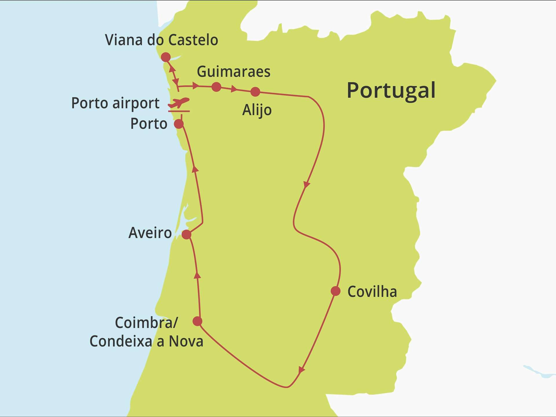 Fly-drive Noord en Centraal Portugal (pousadas) 10 dagen
